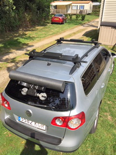 The roof rack for our tandem kayak