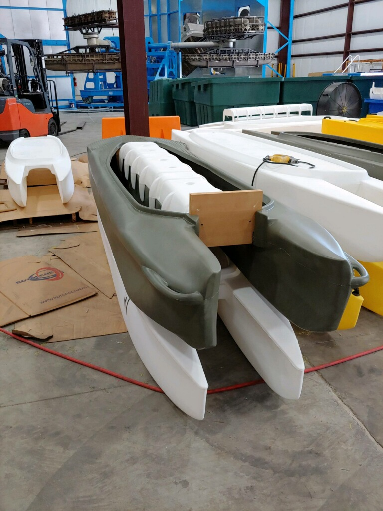 Production of Wavewalk kayaks