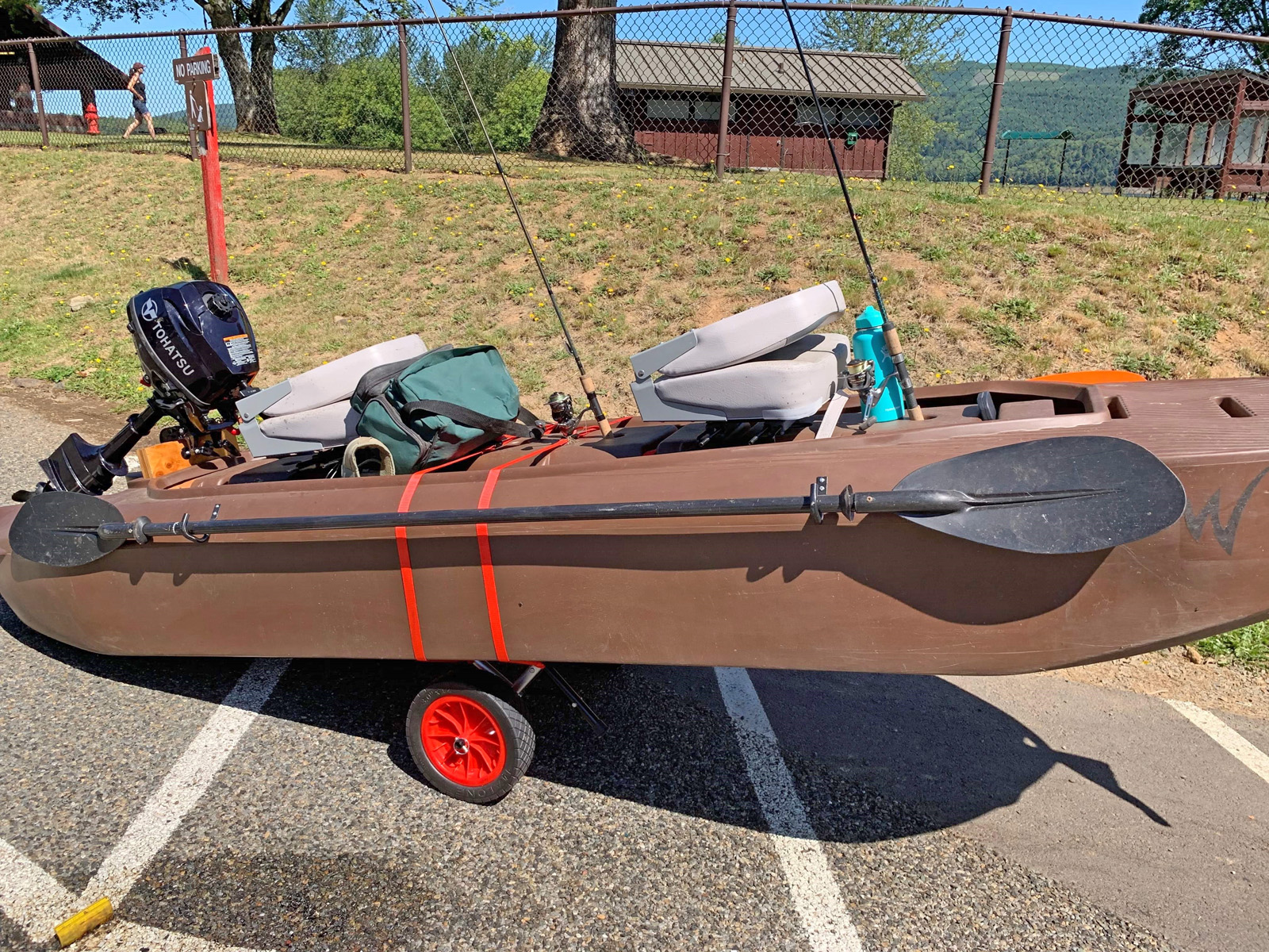 tandem motor kayak for fishing