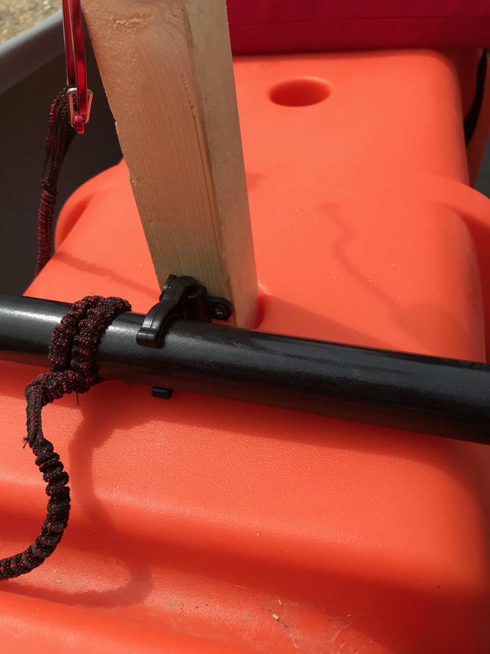 Pole for fishing rod holder and paddle holder