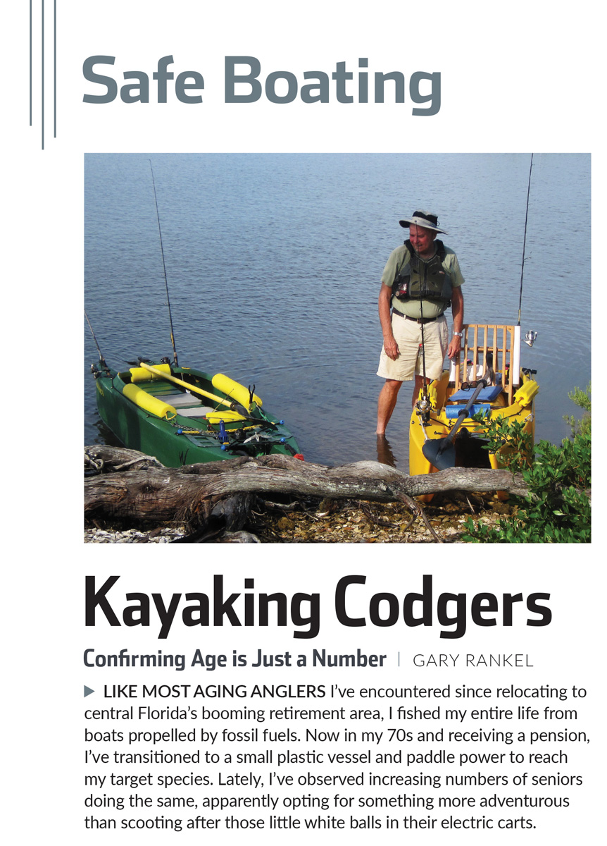 Kayak fishing article in Florida Sports Fishing magazine, by Gary Rankel