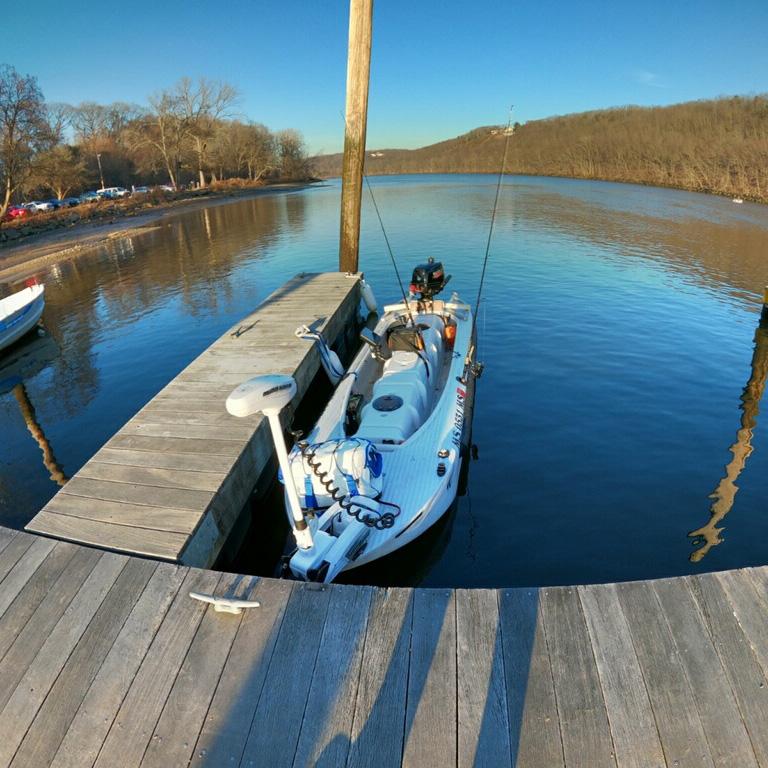 S4 portable boat docked