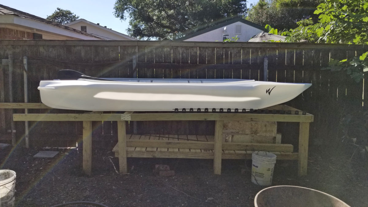 Wavewalk S4 kayak skiff side view Louisiana