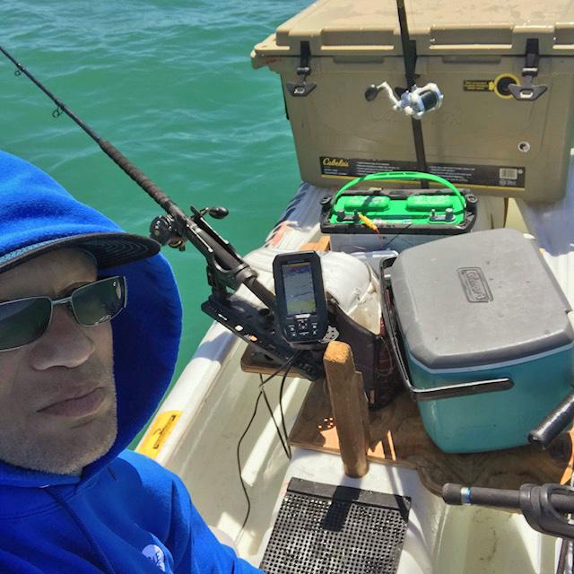 On board my Wavewalk S4 commercial fishing kayak