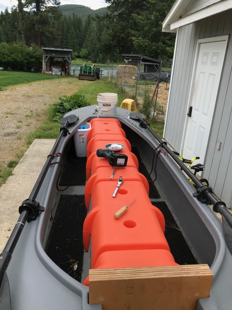 My S4 kayak with 2 Wavewalk paddles