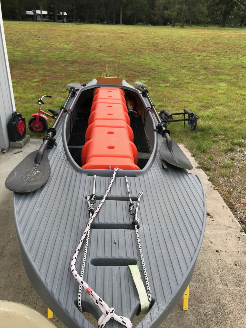 Front view of my S4 motor kayak