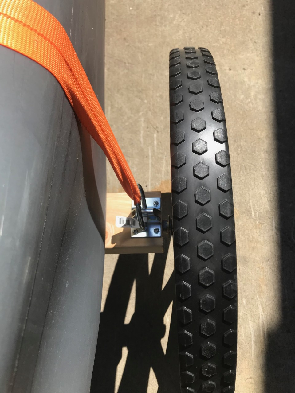 DIY kayak wheel cart for rugged terrain