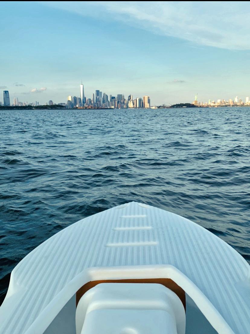 S4 microskiff on the Hudson river