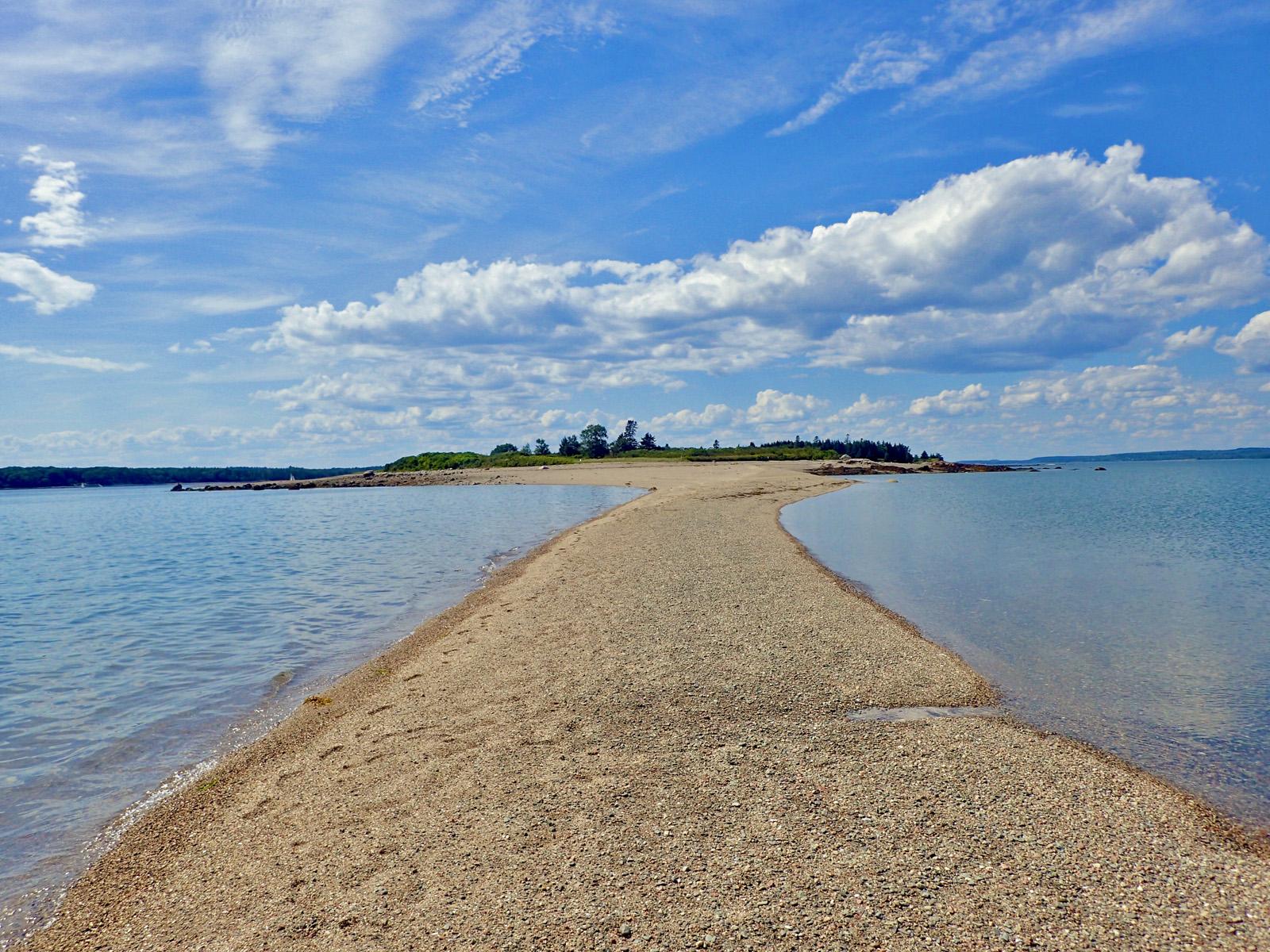 Torrey Island sandbar, Maine