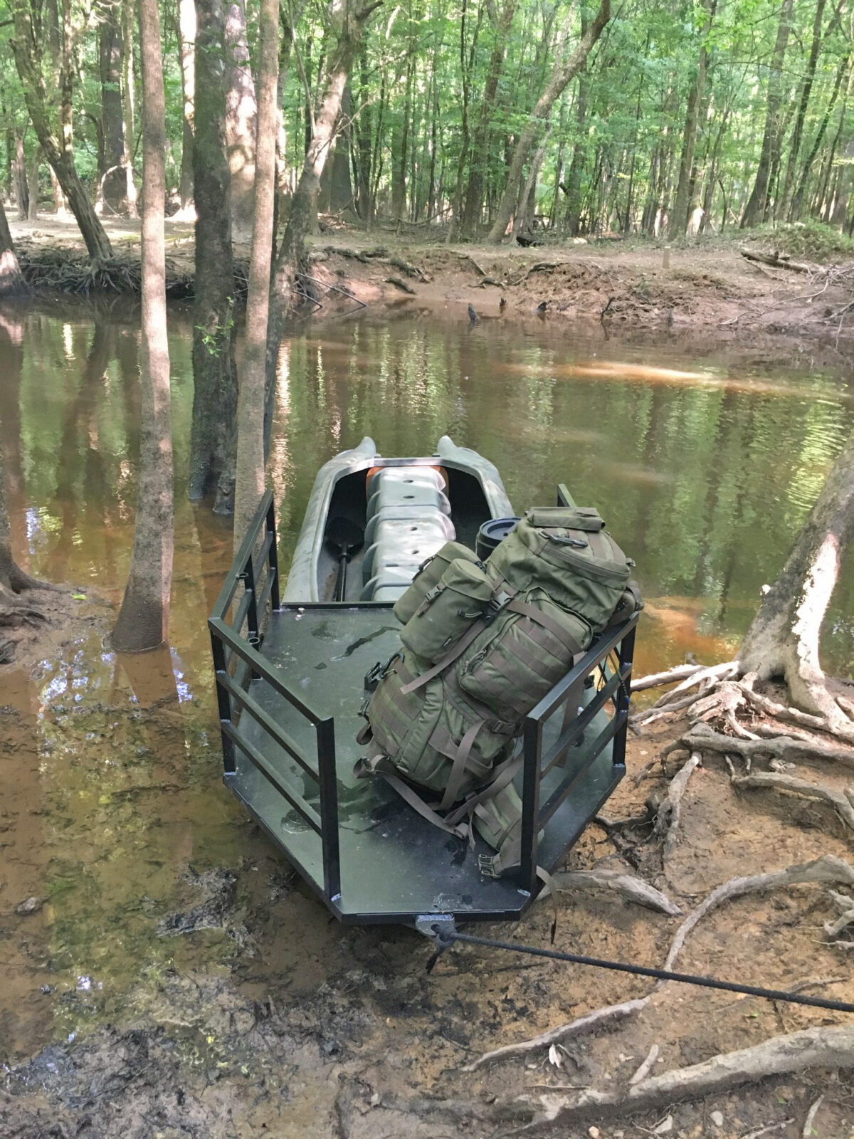 Testing my S4 hunting boat with a dog platform