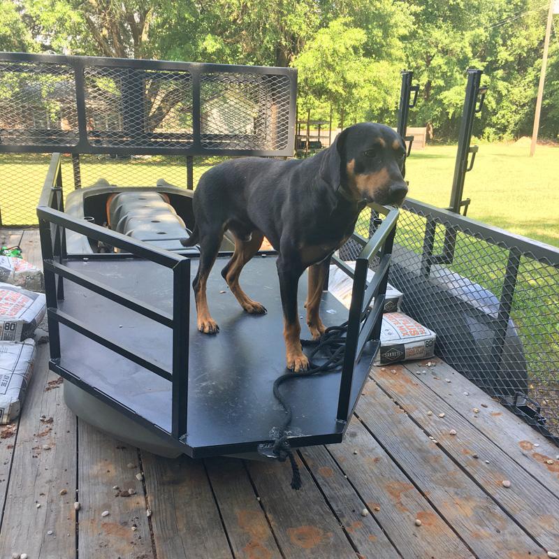 dog platform for S4 hunting boat